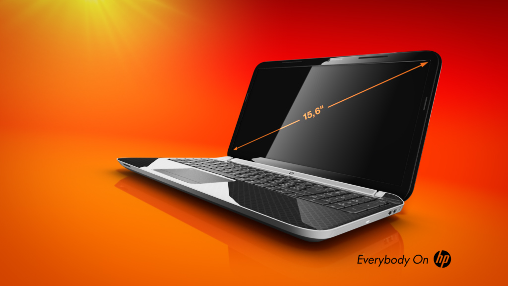 melectronics 3D product animation – HP laptop
