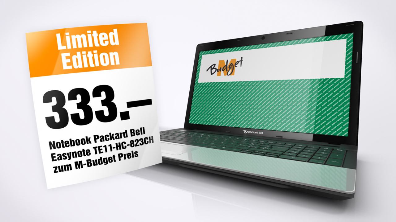 Mirgros M-budget 3D product animation, packard bell laptop price offer