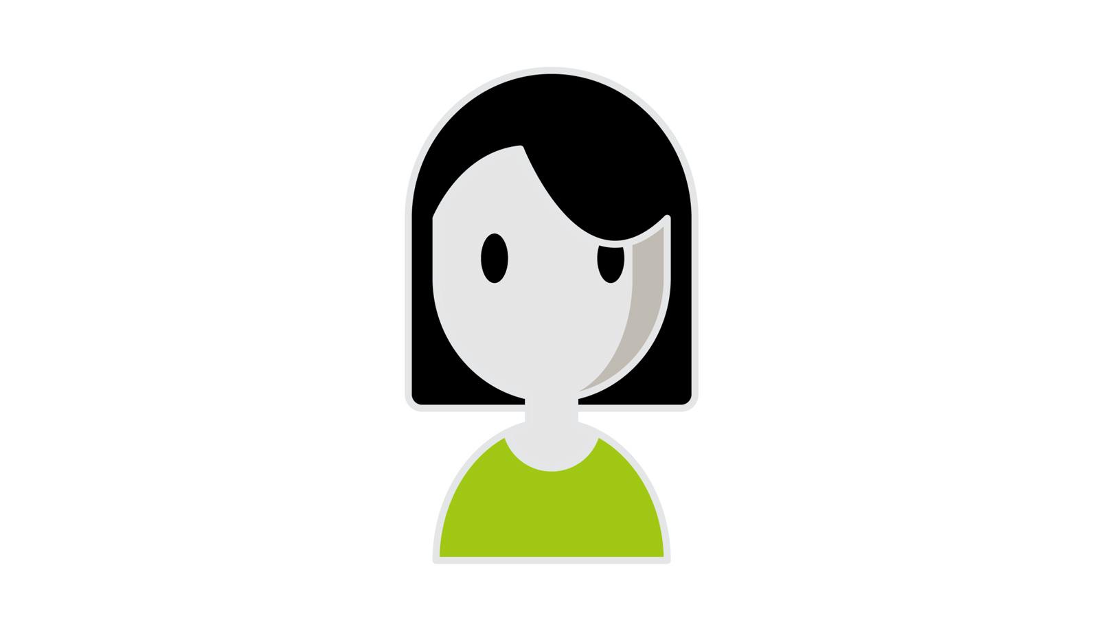Goethe Institut, Deutsch für Dich, explanatory video as 2D animation, woman