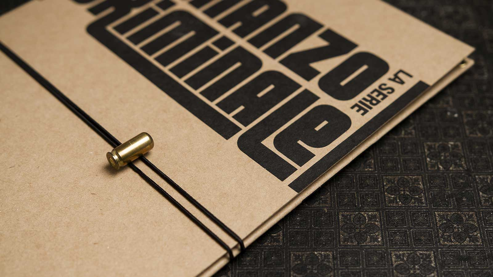 A X N, Romanzo Criminale press kit, detail of the closure