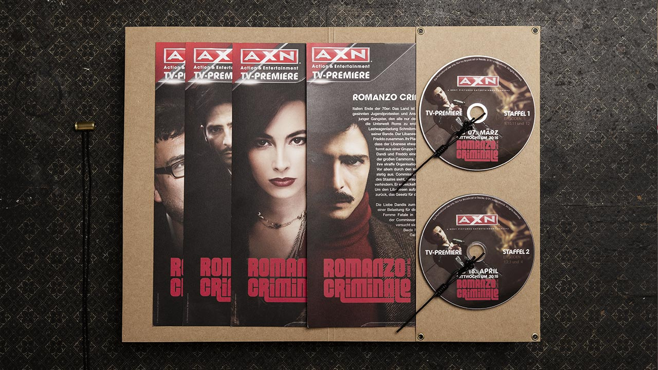 A X N, Romanzo Criminale press kit opened, info sheets and DVDs