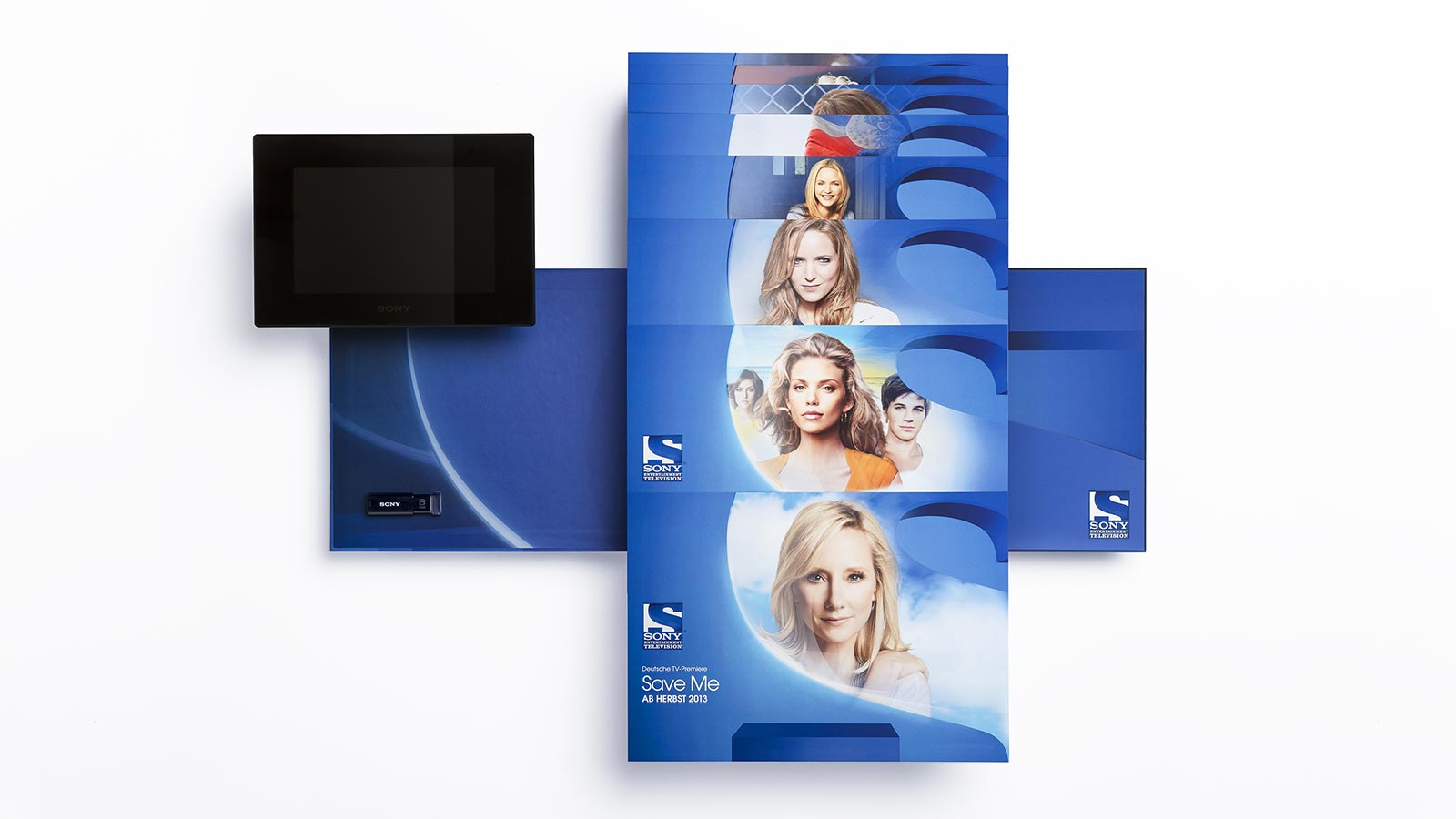 SONY Entertainment Television, launch press kit folder with info sheets, a digital picture frame and USB stick