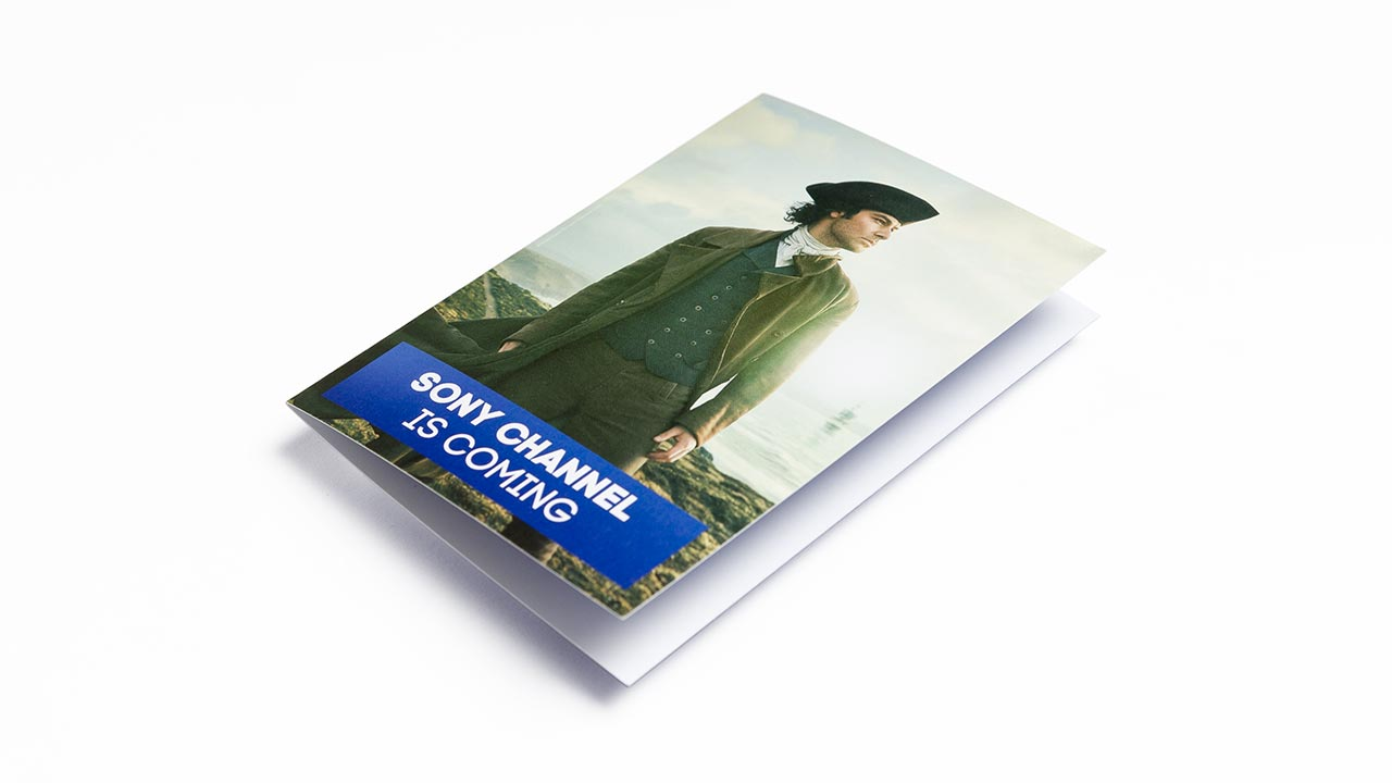 SONY Entertainment Television, Poldark christmas card, front side