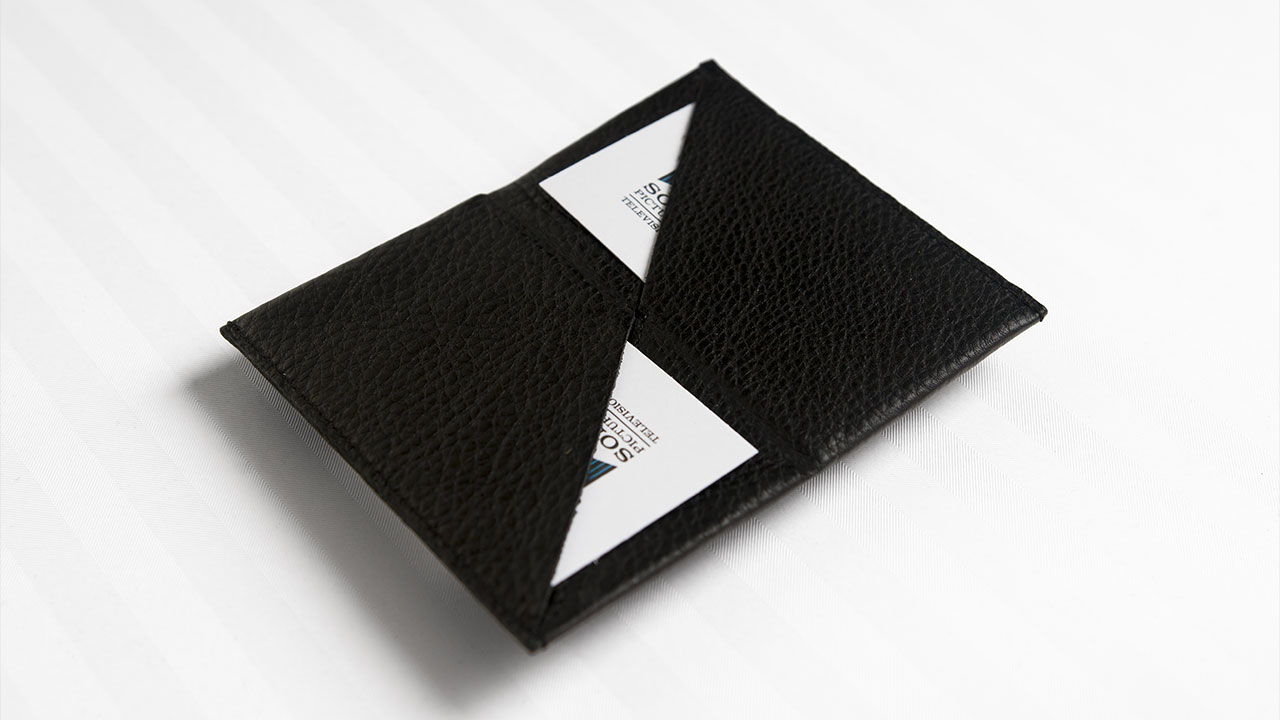 A X N, House of Lies press kit, business card case, side view