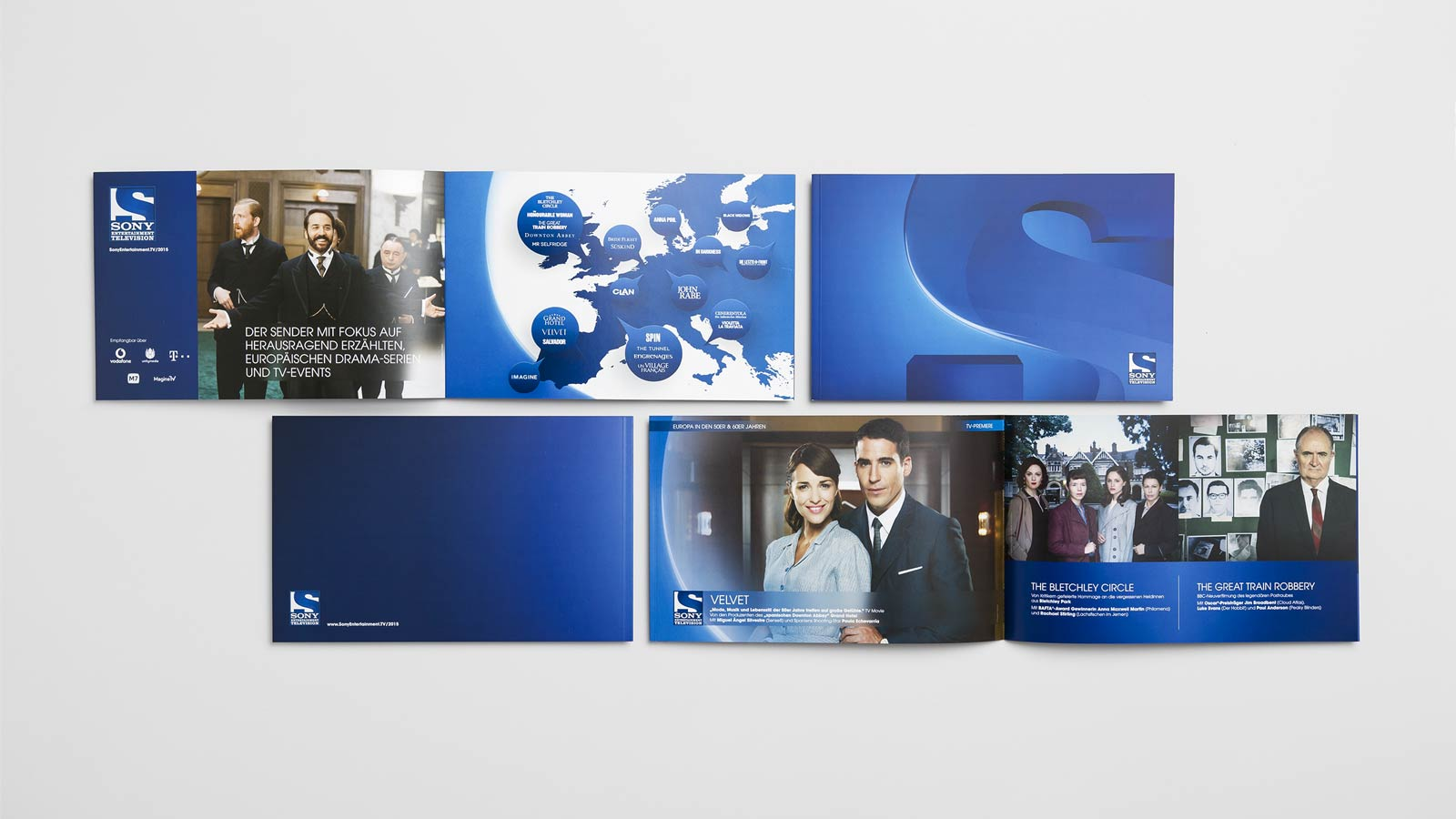 SONY Entertainment Television, brand brochure, example pages, front view