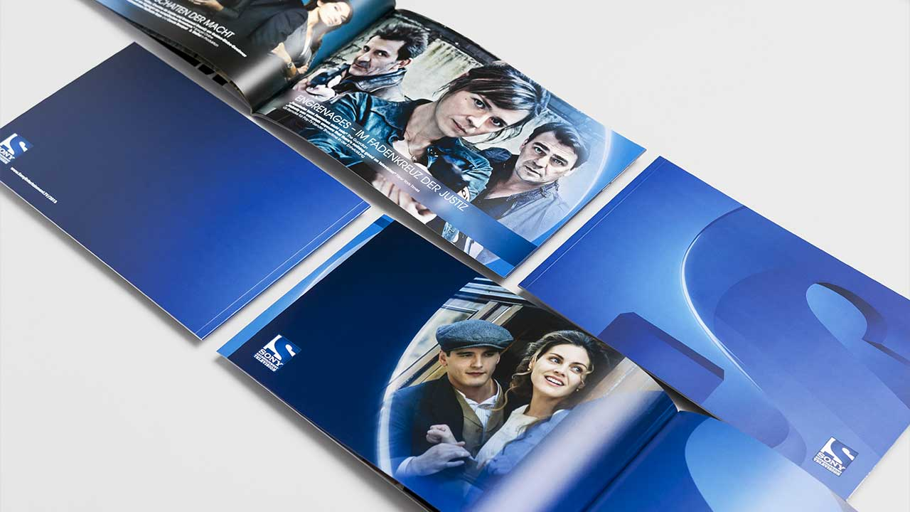SONY Entertainment Television, brand brochure, example pages, side view