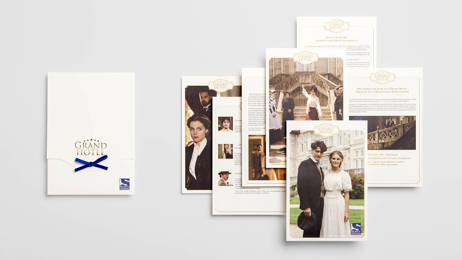 SONY Entertainment Television, press kit Grand Hotel, front side and info sheets