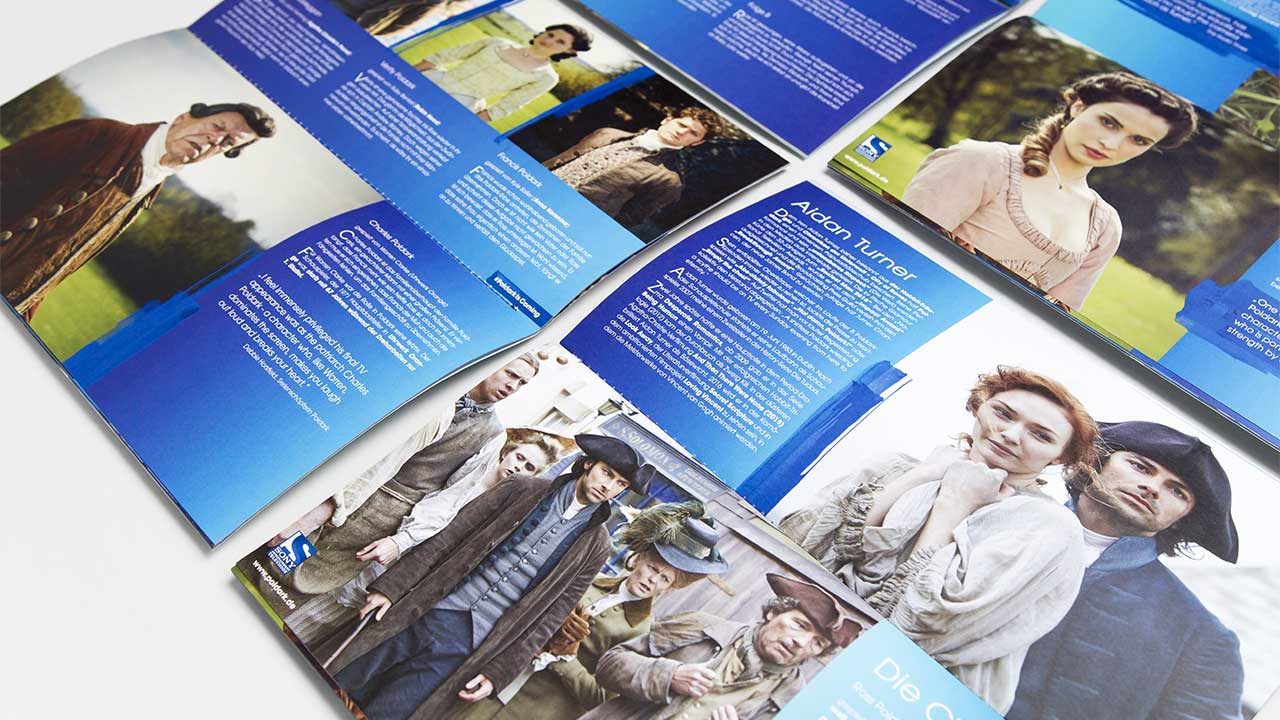 SONY Entertainment Television, Poldark brochure, example pages, side view