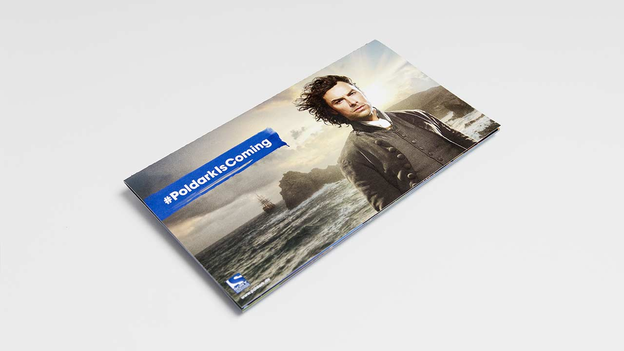 SONY Entertainment Television, Poldark brochure, closed, side view